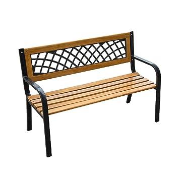 Outsunny 47u0026quot; Modern Outdoor Patio Garden Park Bench Chair