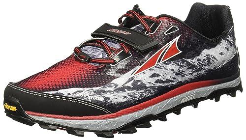 Altra - Zapatillas para Correr en montaña para Hombre Negro/Rojo 9 UK: Amazon.es: Zapatos y complementos