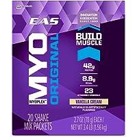 EAS Myoplex Original Protein Shake Mix Packets, Vanilla Cream, 2.7 oz, 42 servings