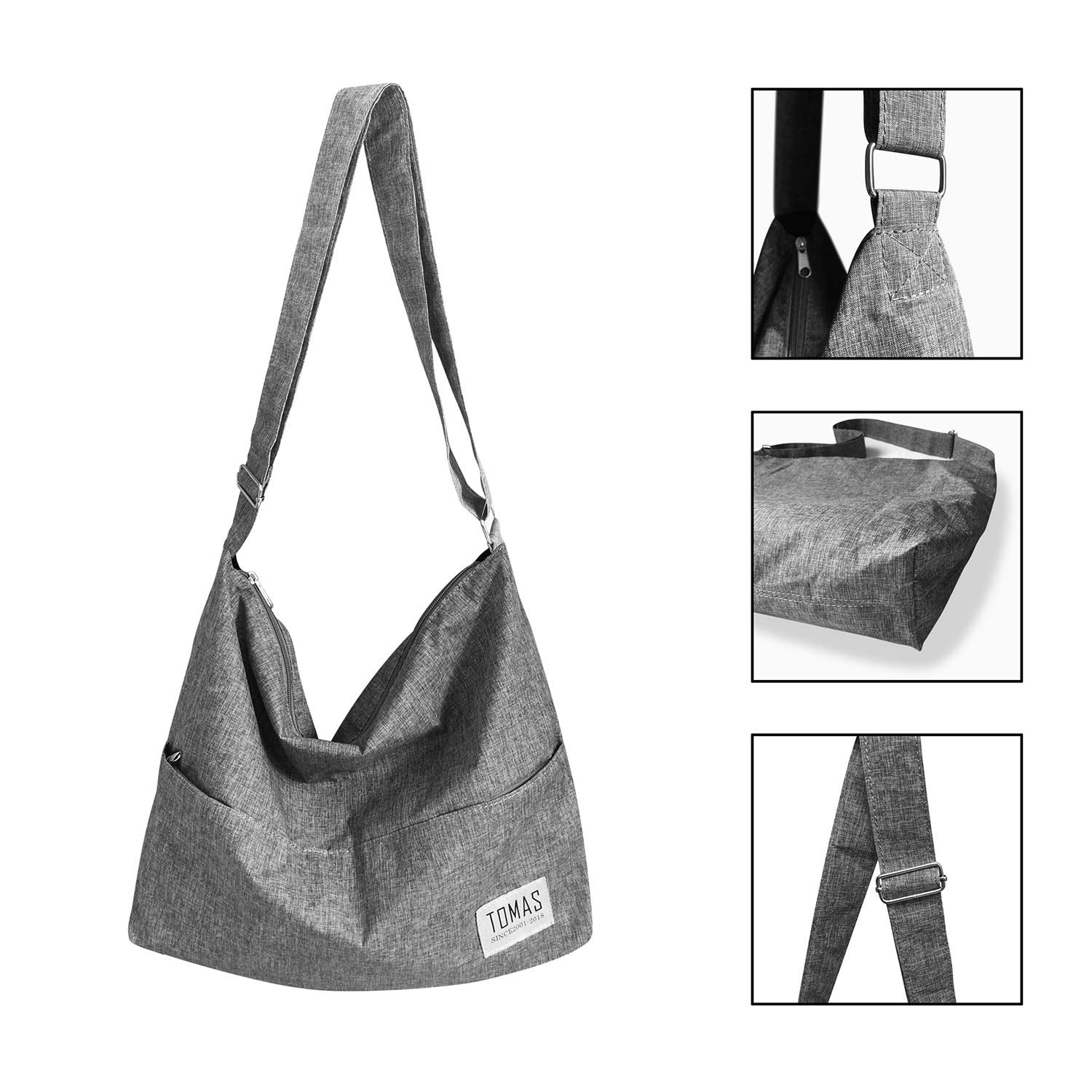 TOMAS Women Casual, Simple, Fashion, Resistant To Dirty, Lightweight,Durable Canvas Hobo Bag, Single Shoulder Bag Totes Bag Crossbody Bag by TOMAS (Image #8)