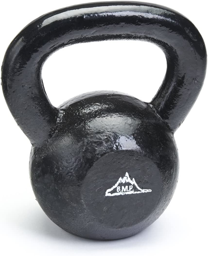 Best Choice Products 3-Piece HDPE Kettlebell Exercise Fitness Weight Set w 5lb, 10lb, 15lb Weights, Base Rack