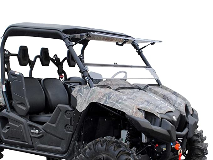 SuperATV Heavy Duty Scratch Resistant 3-IN-1 Flip Windshield for Yamaha  Viking/Viking VI (2014+) - Hard Coated for Long Life and Extreme Durability  -