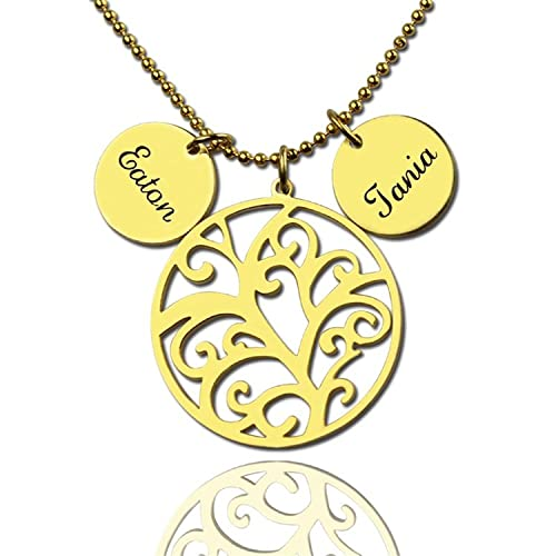 cdf78199a5f09 Amazon.com: Special Mother's Day Necklace - Silver Filigree Family ...