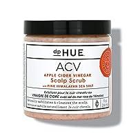 dpHUE Apple Cider Vinegar Scalp Scrub with Pink Himalayan Sea Salt, 9 oz - Natural Exfoliating Scrub & Dry Scalp Treatment - Aloe Vera & Avocado Oil - Gluten Free, Vegan