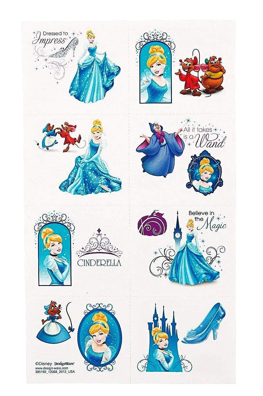 Disney Cinderella Tattoo by Amscan: Amazon.es: Juguetes y juegos