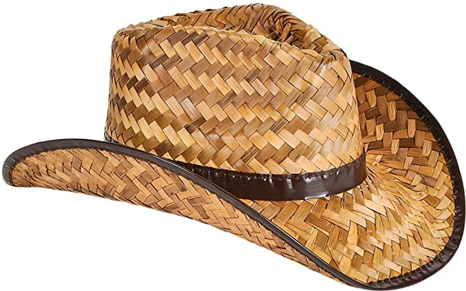 32ac5dd462d31 Image Unavailable. Image not available for. Color  New Men s Women s  Stained Brown Woven Straw Cowboy Hat