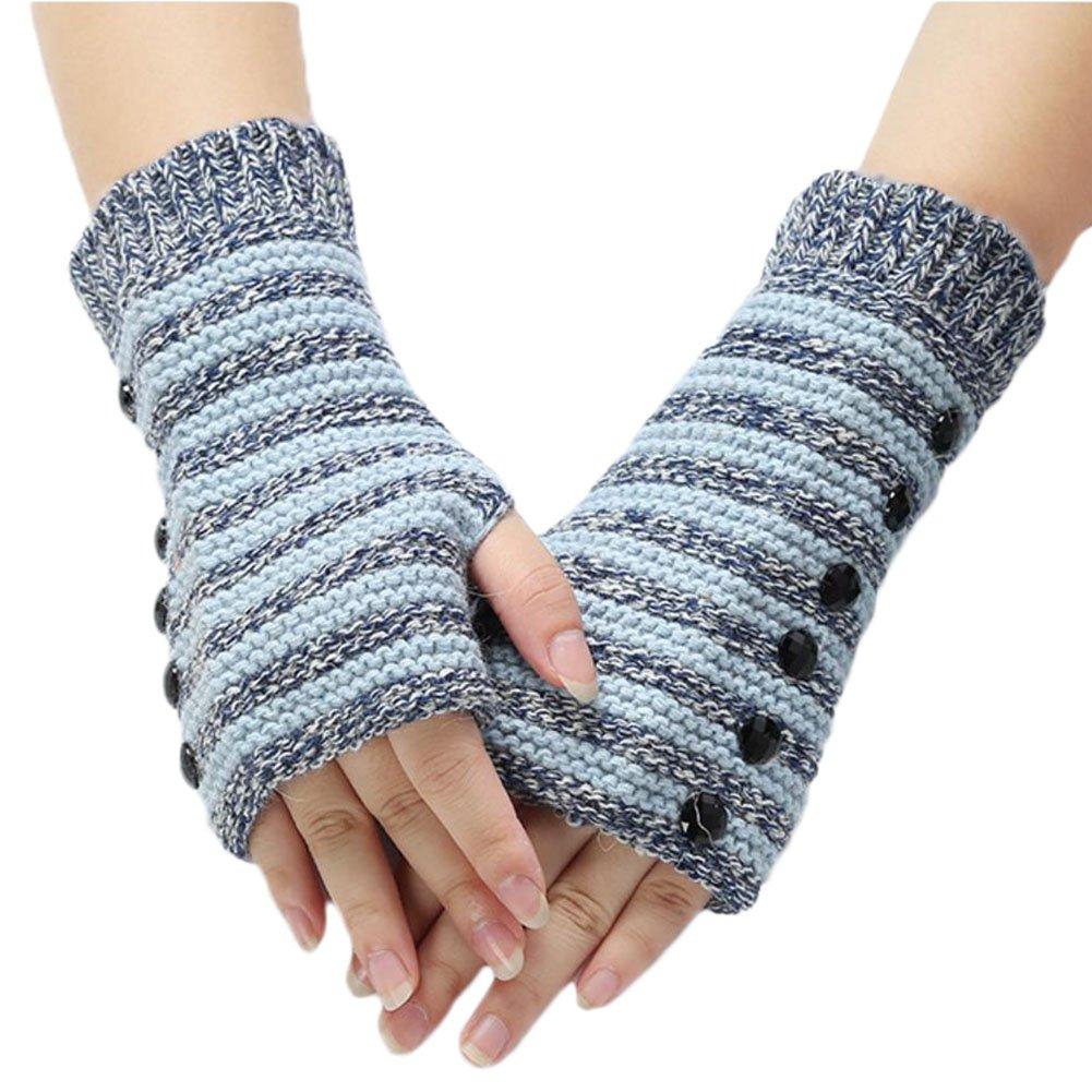 Leisial™ Kreativ Mode Damen Armwärmer Handschuhe Damen Winter Draußen Winddicht Warm Halten Rose Rot EQZS140527M1IJO104