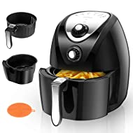 Aigostar Dragon Pro Air Fryer, 3.4Qt Electric Hot Air Fryers Oven Oilless Cooker with Detachable Non-stick Basket & Automatic Timer & Temperature Control for Fast Healthier Fried Food, 1400W