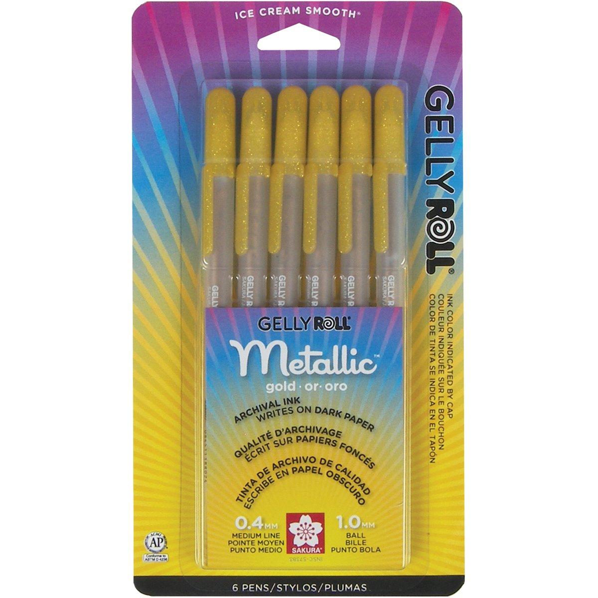 Sakura 57383 6-Piece Gelly Roll Metallic Gel Pen Set, Bold,