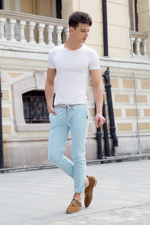 Sues Mens Body Modal Short Sleeve Crew Neck T-Shirt