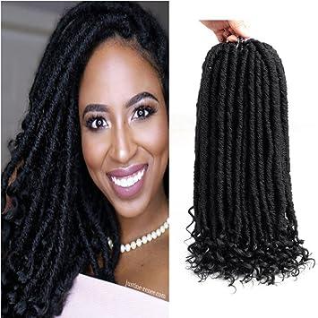 Amazoncom Lihui 6 Packs Goddess Locs Crochet Hair 18inch Faux