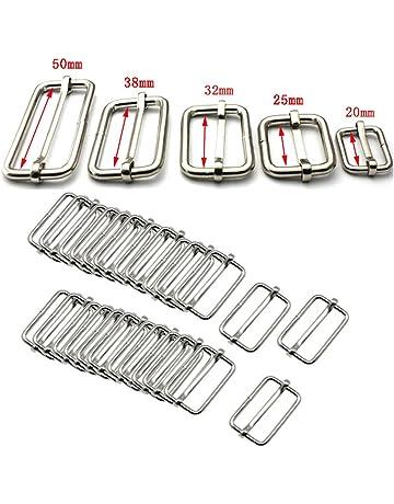 Lot de 20 boucles réglables en métal pour sacs à main, à dos ou de fd19ac1970b