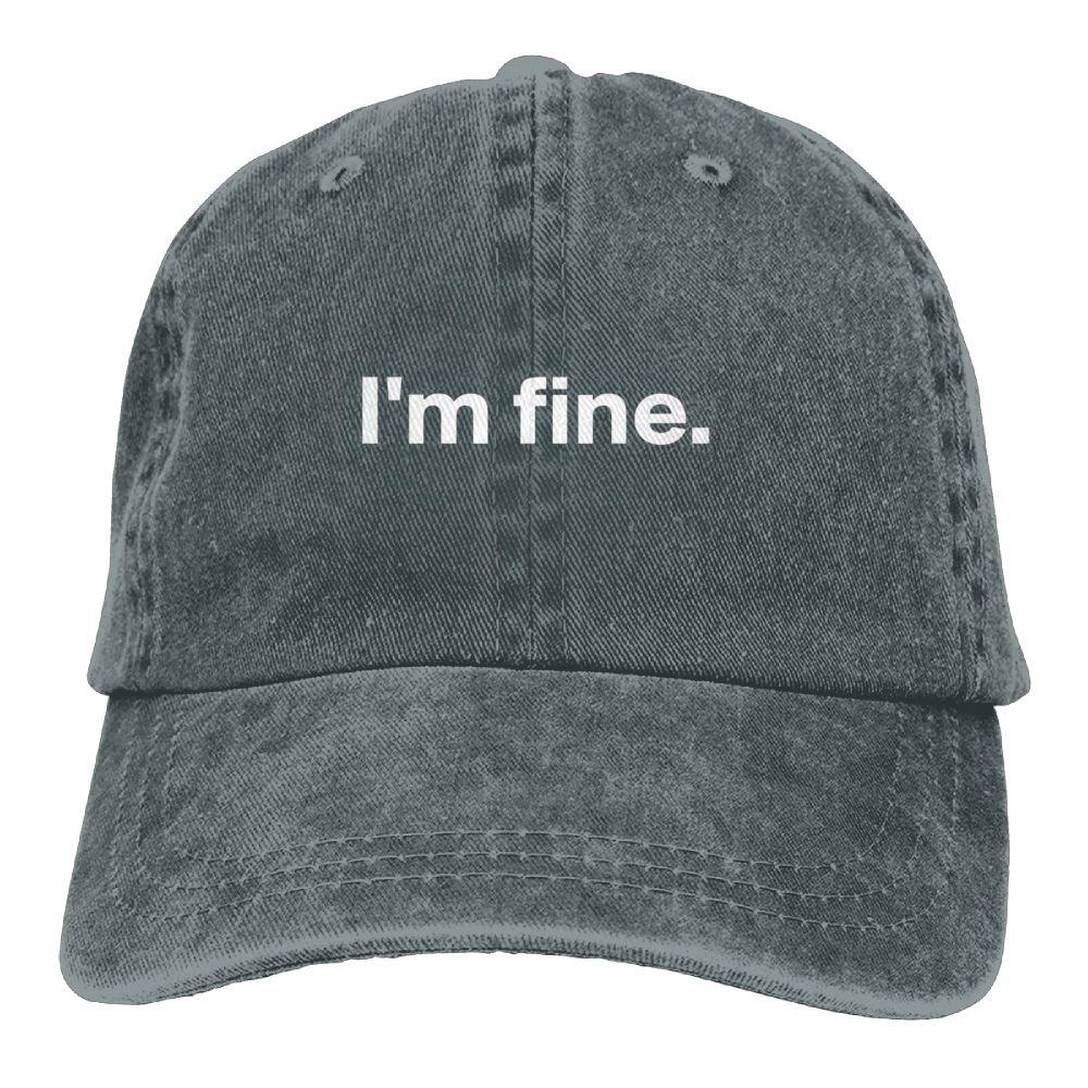 Im Fine Plain Adjustable Cowboy Cap Denim Hat for Women and Men