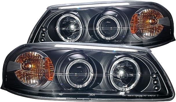 Pair Projector Head Lights Lamps Scion xB 2003-2007 HALO  Black 1 Yr Warranty