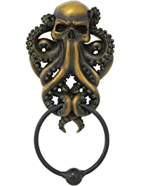 Decorative Octopus Skull Monster Resin Door.
