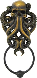 Decorative Octopus Skull Monster Resin Door Knocker with Cast Iron Knocker Wall Sculpture  sc 1 st  Amazon.com & Cast Iron Lion Door Knocker - - Amazon.com