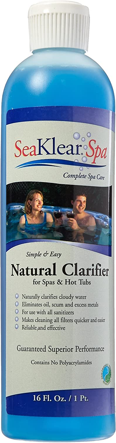 SeaKlear Natural Clarifier for Spas, 1 Pint Bottle