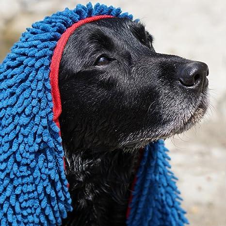 Toallas Para Perros, Ultra Absorbente Toallas de Microfibra de Chenilla Para Perros con Bolsillos Para