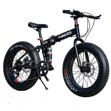 QXMEI Bicicleta Plegable De La Bicicleta De La Nieve Que Completa Un Ciclo 21 Velocidades 26