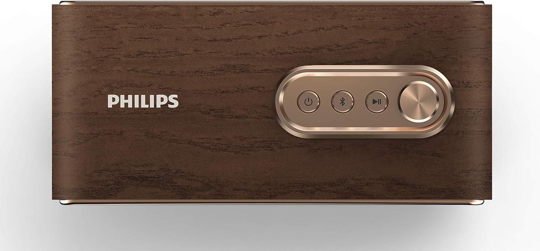 Philips Audio Bluetooth Speaker VS500/00 Altavoz portátil (Bluetooth, 10 horas de autonomía, sonido potente, bajos intensos, 10 vatios) color marrón