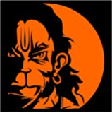 Auto Hub Orange Lord Hanuman Sticker For Two Wheeler and 4 Wheeler