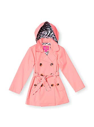 professional sale fashion style of 2019 reliable reputation Pink Platinum Girls 4-6X Fashion Neon Trench Rain Jacket