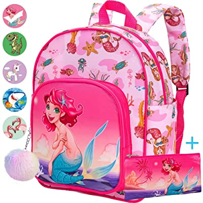 "Toddler Backpack, 12.5"" Mermaid Preschool Bag for Girls: Baby"