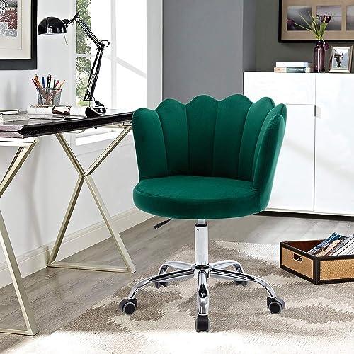Velvet Office Chair,SSLine Upholstered Desk Chair