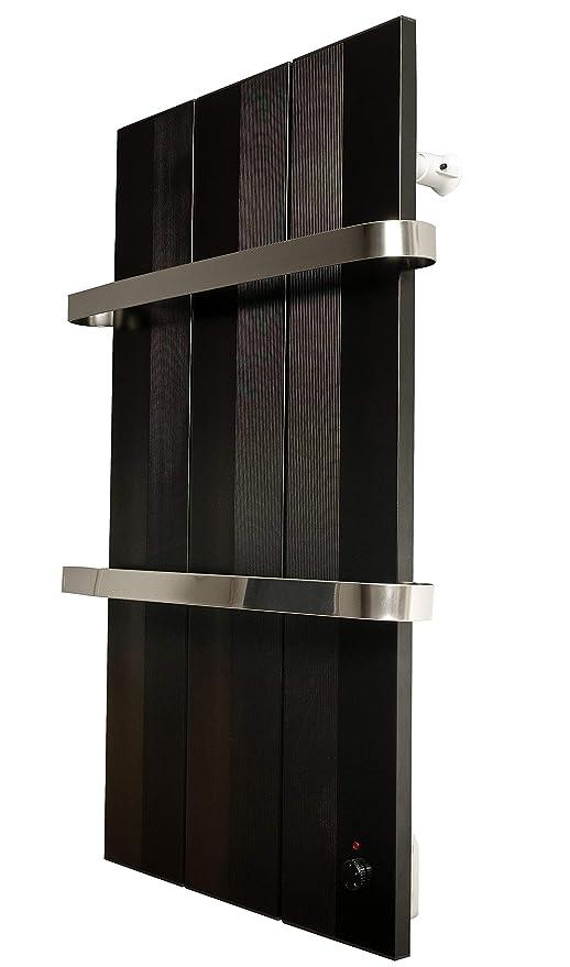 Finesa Badheizkörper-Handtuchwärmer-Elektrischer,Wärmeabgabe 400-750  W,Termostat,Handtuchtrockner,Handtuchhalter (800x558, Schwarz)***** 5 Jahre  ...