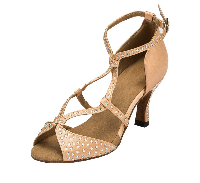 Minitoo pour chaudes pour femme Cha en B01GRUXVVG Satin pour mariage fête Sandales Cha Cha Latin Chaussures de danse Beige - beige dc3ee40 - epictionpvp.space