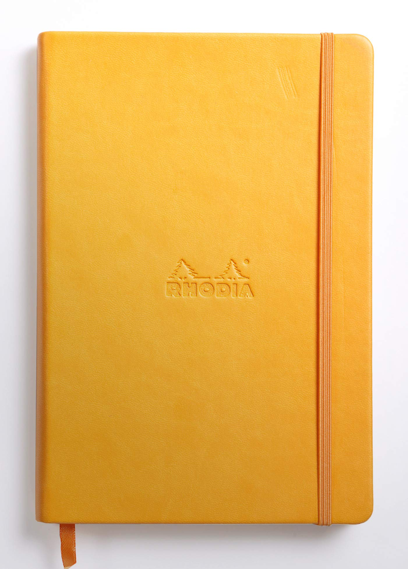 Rhodia Rhodiarama Webnotebook - Blank 96 sheets - 5 1/2 x 8 1/4 - Yellow Cover by Rhodia