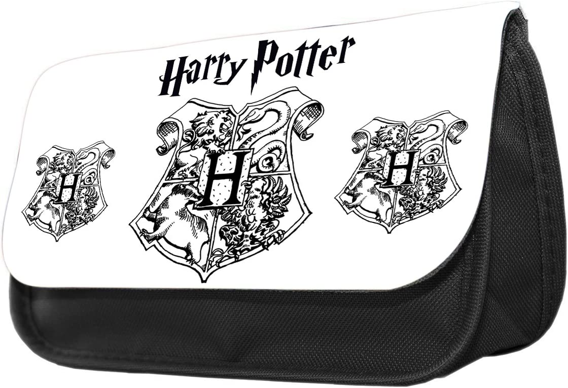 Harry Potter Hogwarts H - Estuche para lápices, diseño de Hogwarts Estuche de maquillaje, regalo de vuelta al cole.: Amazon.es: Oficina y papelería