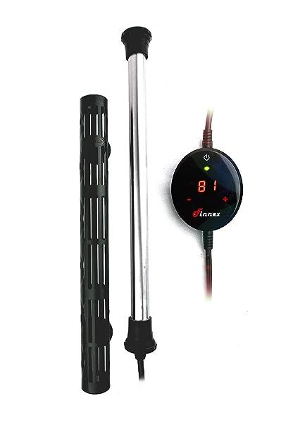 Finnex 150W Digital Touch Control Aquarium Titanium Heater Guard