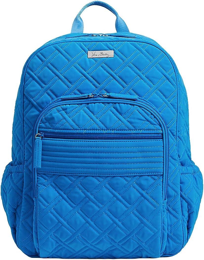 Vera Bradley Womens Campus Backpack Coastal Blue Backpack