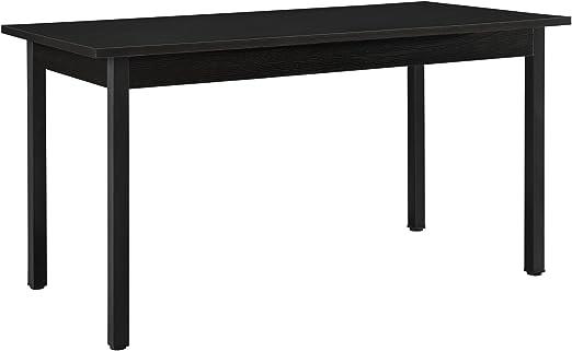 en.casa]®] Mesa de Comedor Moderna Negra 140 x 60 cm: Amazon.es: Hogar