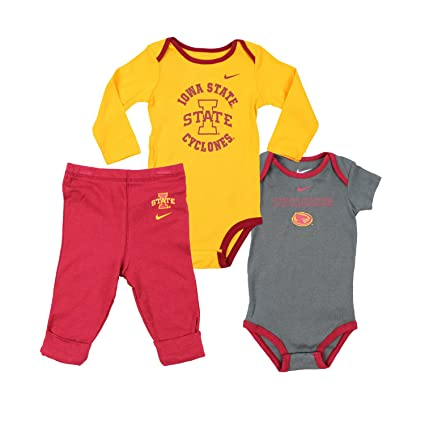 cheap for discount cb9fa eec45 Nike Infants NCAA Iowa State Cyclones 3-piece Creeper Set
