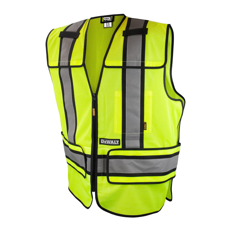 DEWALT DSV421-XL/3X Class 2 Adjustable Breakaway Vest, Large