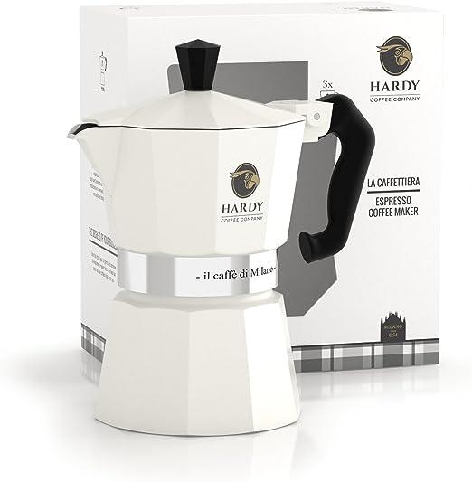 Cafetera espresso Blanca para 3 tazas - Caffe Hardy (Italia): Amazon.es: Hogar