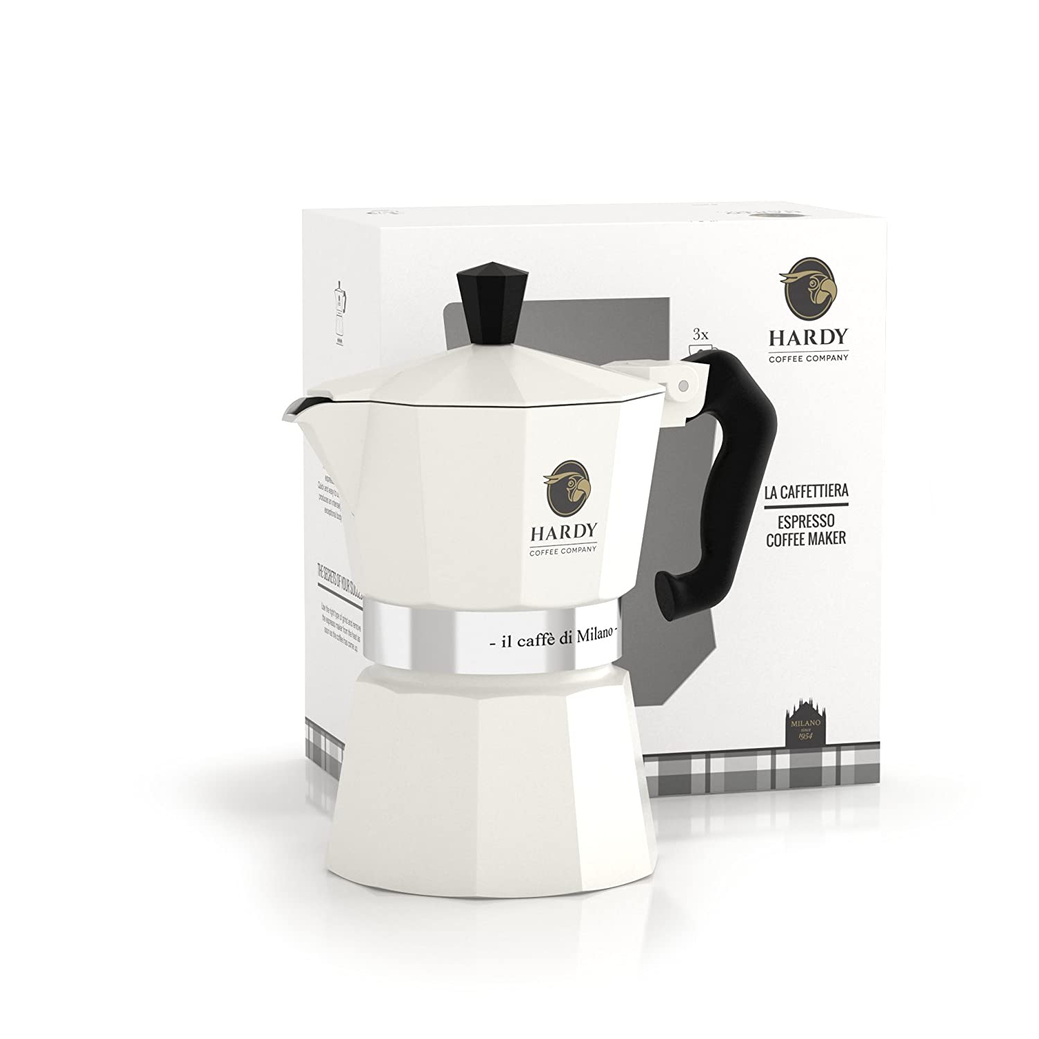 Coffee White Hardy Moka Cafetiere 3 Cup: Amazon.co.uk: Kitchen & Home