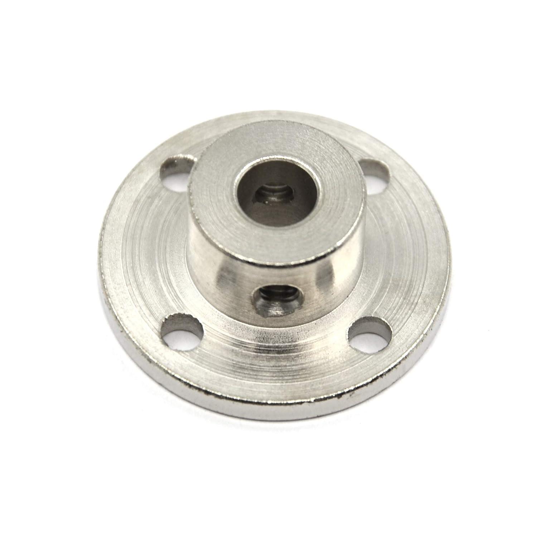 7mm Befenybay 4 Pcs 7mm High Hardness Metal Rigid Flange Shaft Coupling with Screws for RC Model Motor