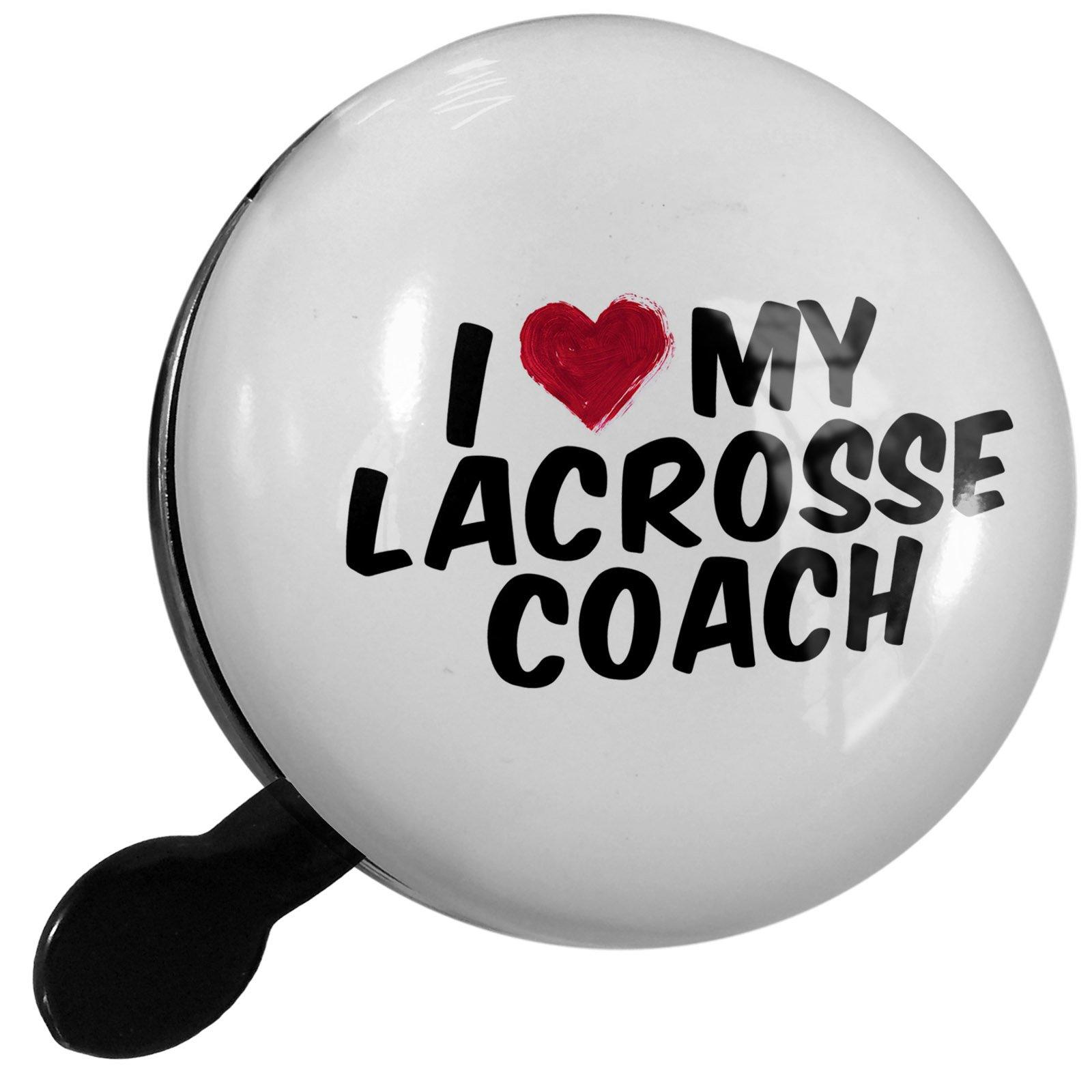 Small Bike Bell I heart love my Lacrosse Coach - NEONBLOND