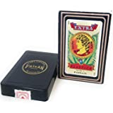 Spanish Playing Cards, Barajas Espanolas, Red Color, Color  rojo Faisan