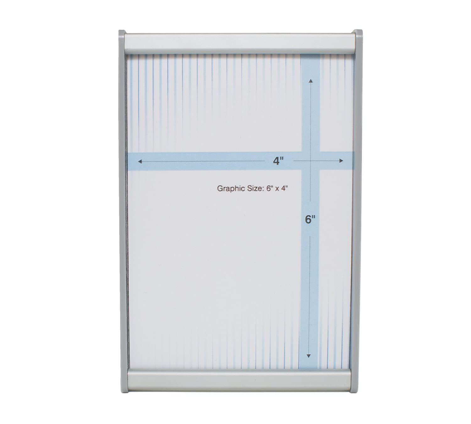 6 x 10 Brushed Aluminum HID-WML-F610 Howard Industries Changeable Business and Store Sign Holder with Suction Cup