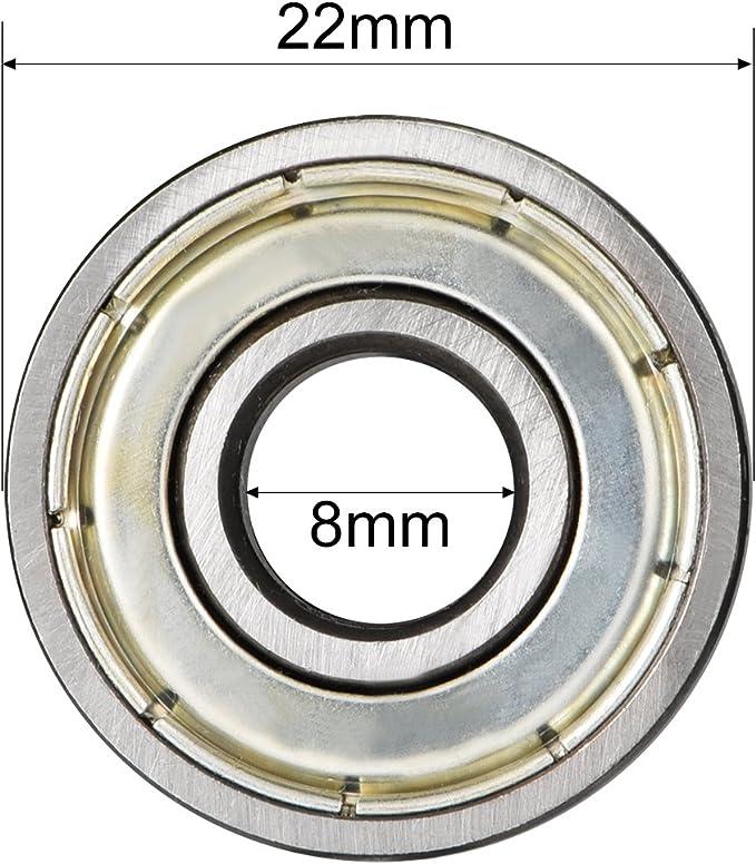 5 Roulements /à billes 6900 en acier carbone avec blindage m/étallique
