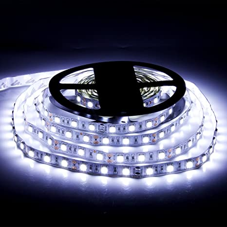 Amazon cool white led light stripsupernight 164 ft 300leds cool white led light stripsupernight 164 ft 300leds 60ledsm 5050 smd flexible aloadofball Gallery