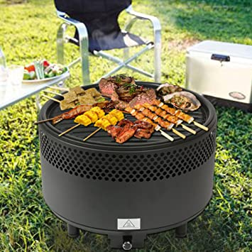 Barbacoa Patio Grill Horno sin humo eléctrico portátil al aire libre BBQ