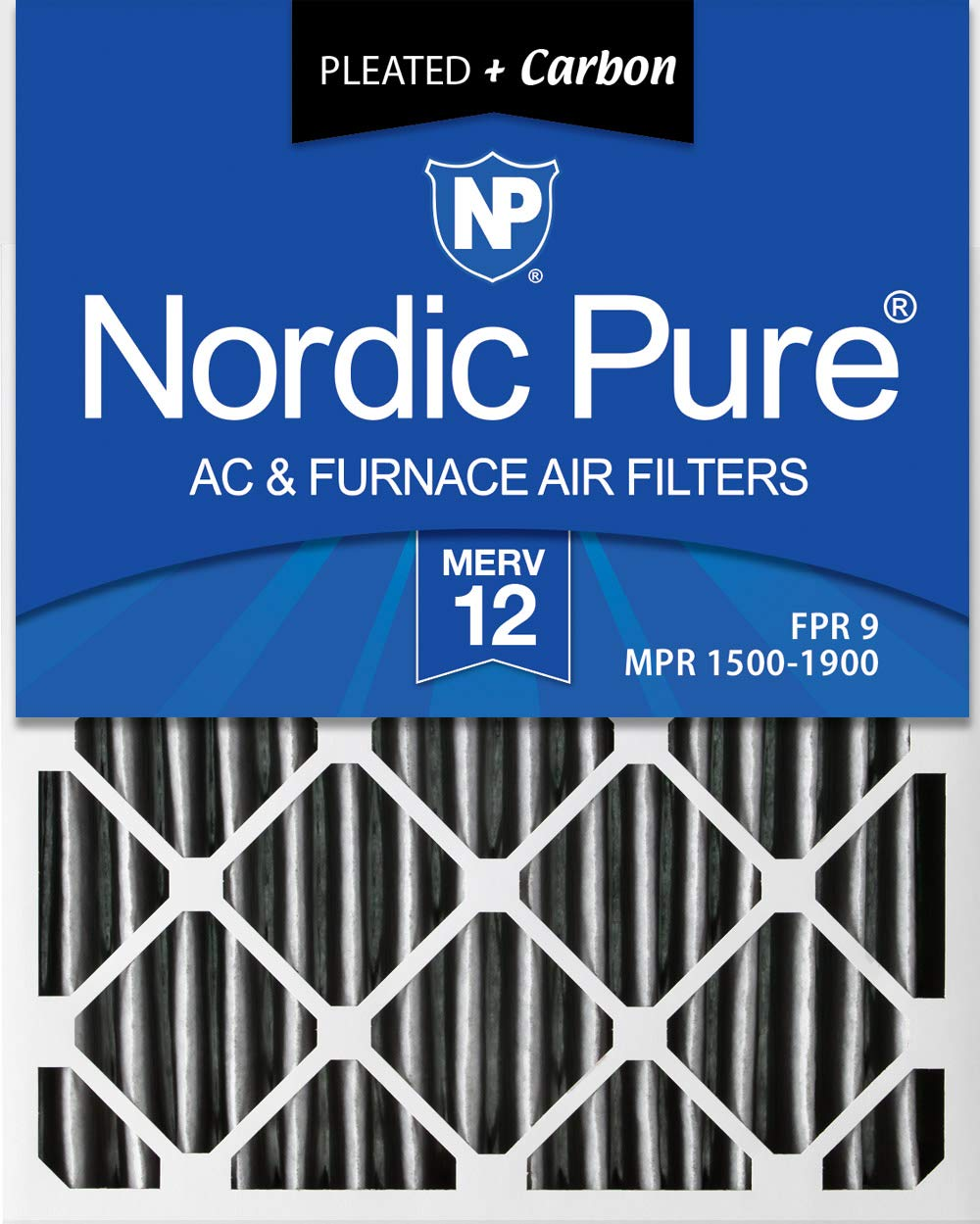 Nordic Pure 18x36x1 Exact MERV 13 Pleated AC Furnace Air Filters 4 Pack