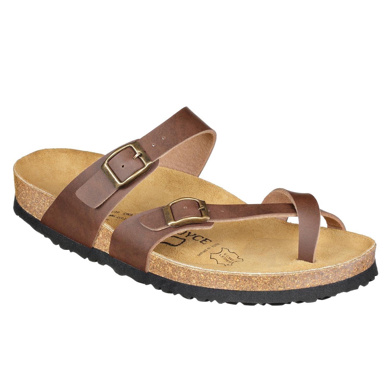 JOE N JOYCE Women Cork Sandals Milano Slippers SynSoft Soft-Footbed Brown Size EU 36 Normal