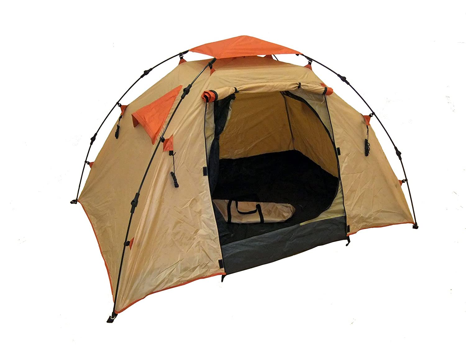 Amazon.com  Genji Sports Instant C&ing Tent (3 Person) Large Light Brown  Sports u0026 Outdoors  sc 1 st  Amazon.com & Amazon.com : Genji Sports Instant Camping Tent (3 Person) Large ...