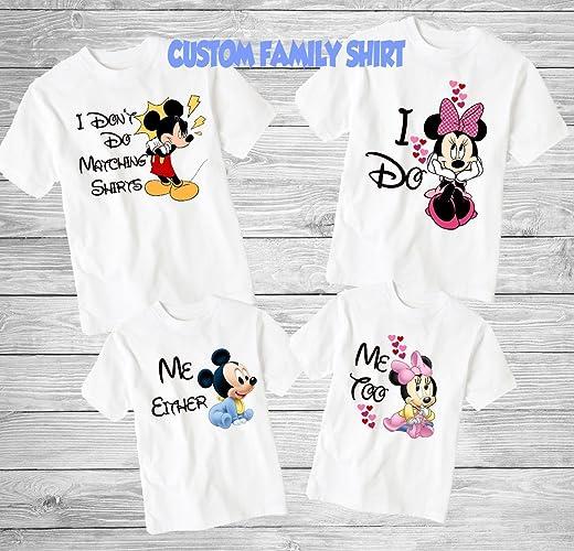 6d0aa5fa4 Amazon.com: I Don't Do Matching Shirts I Do Disney, I Don't Do ...